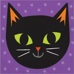 Fun Halloween Cat Lunch Paper Napkins 16 Per Pack Halloween Party Tableware