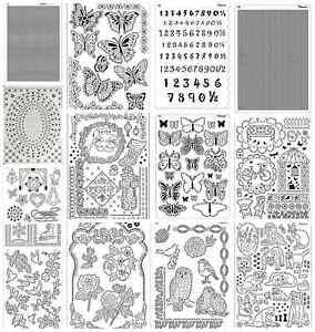 Pergamano Multi Grids - Garden - Butterflies - Birds - Owls - Parchment Craft