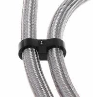 Double Hole Oil Pipeline Clamp Bracket AN6 Braided Hose Separator Black 15mm UK