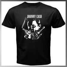 Johnny Cash Country a rock and roll Men's Black T-Shirt S-2Xl Size Usa Tee