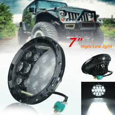 7Inch 75W LED Headlight H4 H13 DRL Hi/Lo Beam For JEEP CJ JK TJ Wrangler Harley
