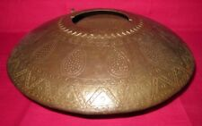 Antique Hand Crafted Iron Pot Old Antique Flower Design Iron Water Pot Patina