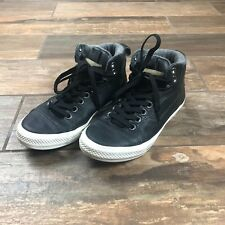 CONVERSE CTAS ASYLUM MID BLACK LEATHER HI TOP TRAINERS UK SIZE 6.5 - EU 37.5