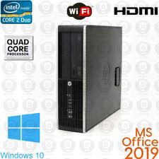 Hp Desktop Computer Pc Core 2 Duo Hdmi upto 8Gb Ram WiFi Win10 Office 2019