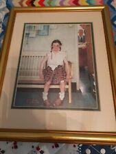 New ListingNorman Rockwell Print, Girl with Black Eye, Framed 16x12.5 gold matted frame