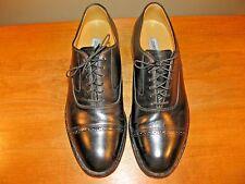 Johnston & Murphy Mens Oxford Shoes Sz 9-D Black Cap Toe Leather