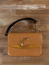 $1850 CHLOE small C double carry shoulder bag in autumnal brown authentic - NWT