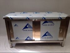 Commercial Kitchen Stainless Steel Catering Floor Cupboard 4ft 1200x600 Brandnew