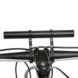 MTB Bike Flashlight Holder Handle Bar Bicycle Extender Mount Bracket Black