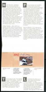 CANADA 1992 DUCK STAMP ARTIST SIGNED IN FOLDER AS ISSUED COMMON EIDERS CARTER