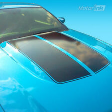 2010 2011 2012 Ford Mustang Cowl Hood Scoop Split Stripe Vinyl Decal Blackout