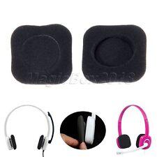 Comfort Ear Pads Cushion For Logitech H150 Headphones 1 Pair Replacement Black