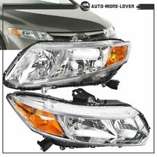 Left+Right Clear Headlights Head Lamps For 2012-2015 Honda Civic 4Dr Sedan US