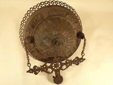 Antique Hanging Oil Lamp Ceiling Mount Hanger Ornate Brass Victorian Eastlake