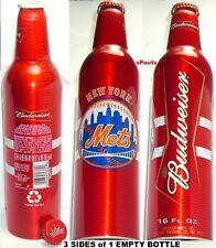 2007 NEW YORK METS MAJOR LEAGUE BASEBALL BUDWEISER MLB-BUD ALUMINUM BEER BOTTLE