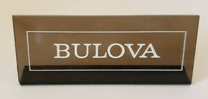 "Vintage ""BULOVA WATCHES"" Promotional Store Advertising Dealer Display Sign"