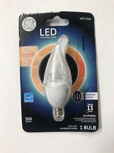 GE LED Soft White Clear Light Bulb 40watt Small Base-Damaged Package