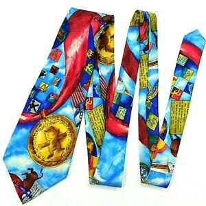 Vtg 1992 NICOLE MILLER Men's Necktie Barcelona Olympic Games Collectible Silk