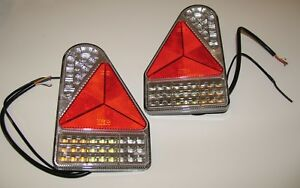 2 REPLACEMENT TRIANGLE LED  LIGHT FIT TO IFOR WILLIAMS BRIAN JAMES BLELINE