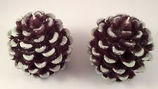 """4 Brown PINECONE CANDLES, Unscented Realistic Looking 3.54"""" (9cm) NIB, LOT of 4"""