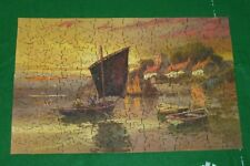 Waddingtons Jig Saw Jigsaw - 2 Shillings Pre 1971 Vintage Rare? Boat Scene