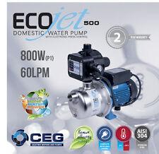 NEW 800W Rain Water Tank Pump Stainless Steel Auto Pressure - Garden Irrigation
