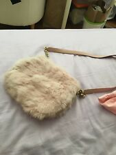 $399 JUICY COUTURE Pink Rabbit Fur Crossbody Bag DARLING SKI BUNNY CHIC! Mint!