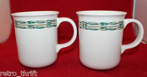 Dansk International Baskets Dinnerware Wicker Set of 2 Coffee Tea Mug Cup Japan