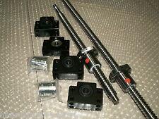 2 anti backlash ballscrew RM1605-500mm/RM2005-1000mm+BK/BF15 end bearing CNC set