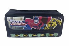 Transformers Black Pencil Case Zippered Canvas Pouch Bag