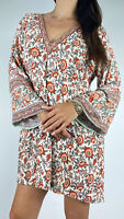 ARNHEM Multicoloured Floral Print Bell Sleeve Hi-lo Tunic Dress Size AU 14 Boho