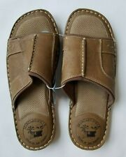 NEW Men's MARGARITAVILLE Chestnut Leather Slides Sandals Shoes Size 12 US
