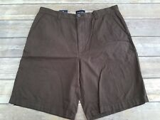 St. John's Bay Essential Flat Front Brownstone Casual Shorts size 36 NWT