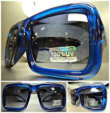CLASSIC RETRO VINTAGE PARTY CLUB PIMP DJ COSTUME SUN GLASSES Crystal Blue Frame