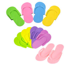 12 Pairs Disposable Flip Flops Foam Pedicure Tanning Spa Slippers Supplies RS
