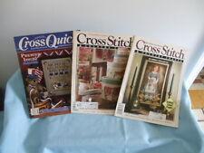 New ListingLot 3 Cross Stitch Magazines/1-Cross Quick; 2-Cross Stitch & Country Crafts