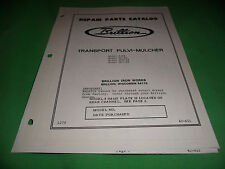 Drawer 16 Brillion Transport Pulvi Mulcher M Mc Mcr 88 Repair Parts Catalog