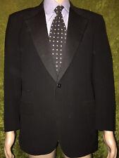 Oxxford Clothes 100% Wool Black Tuxedo 1 Button Blazer Jacket sz 40/42 USA