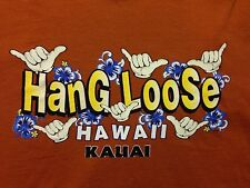 Vintage Hawaii Kauai Hang Loose Surfer Beach Sunset Wave Sand T Shirt Medium