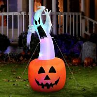 Blow up Outdoor Yard Decoration Halloween Inflatable Pumpkin Ghost & Light 6FT