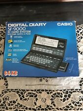 Casio Digital Diary SF-9000 Con Ram Card 64kB ES -100 Vintage