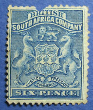 1893 RHODESIA 6d SCOTT# 7 S.G.# 3 UNUSED                                 CS09592
