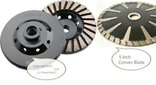 Diamond Grinding Cup Wheel 5 Inch Convex curved Blade Concrete Granite masonry