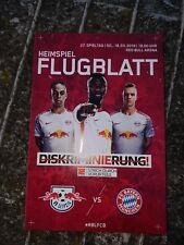 Programm-Heft/Stadion-Magazin RB Leipzig-FC Bayern München Flugblatt 18.03.18