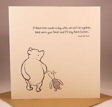 WINNIE THE POOH Birthday Card - Husband Boyfriend Wife Girlfriend Valentines