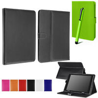 "Universal Book Flip Case PU Leather Cover For All Huawei MediaPad Tab 7""10"""