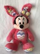 Minnie Mouse Easter Plush Disney Store Pink Hooded PJs Bunny Costume Toy Lovey