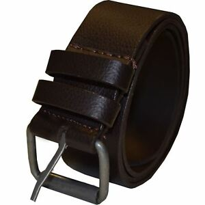 """Kruze New Mens Brown Pu Leather Buckle Belt For Jeans Waist Sizes 28"""" - 50"""""""