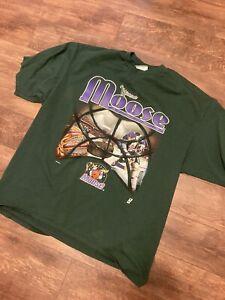 Minnesota Moose IHL Hockey Vintage Green Shirt XXL
