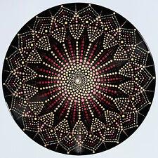 disc-mandala 16 / vinyl record mandala art handmade painting